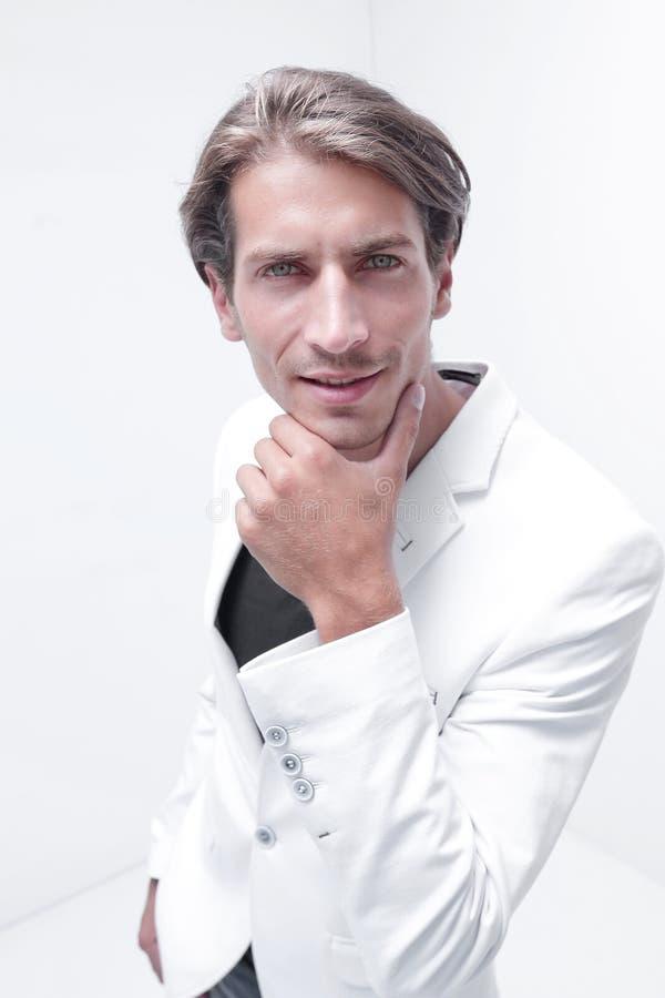 Portrait of stylish young men. stock photo