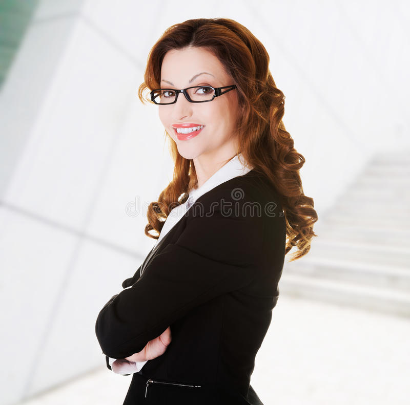 Portrait of success businesswoman royalty free stock photo