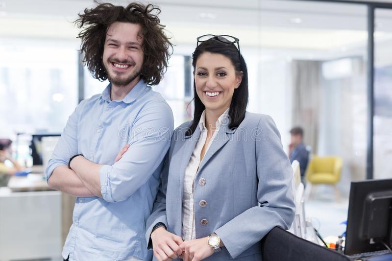Portrait of successful Business people stock photos