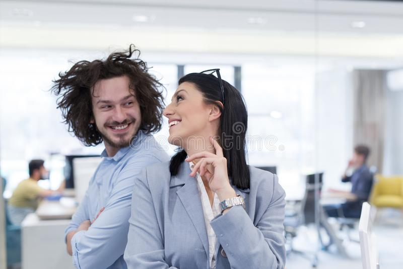 Portrait of successful Business people stock images