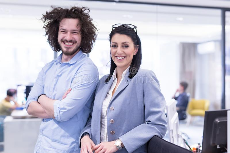 Portrait of successful Business people stock image