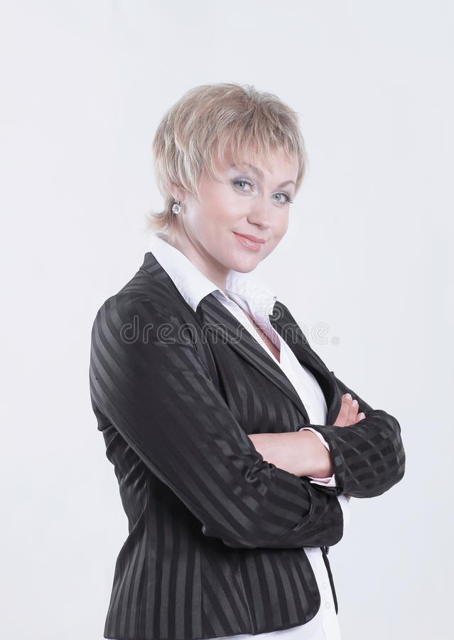Portrait of successful business woman with makeup in the style business stock image