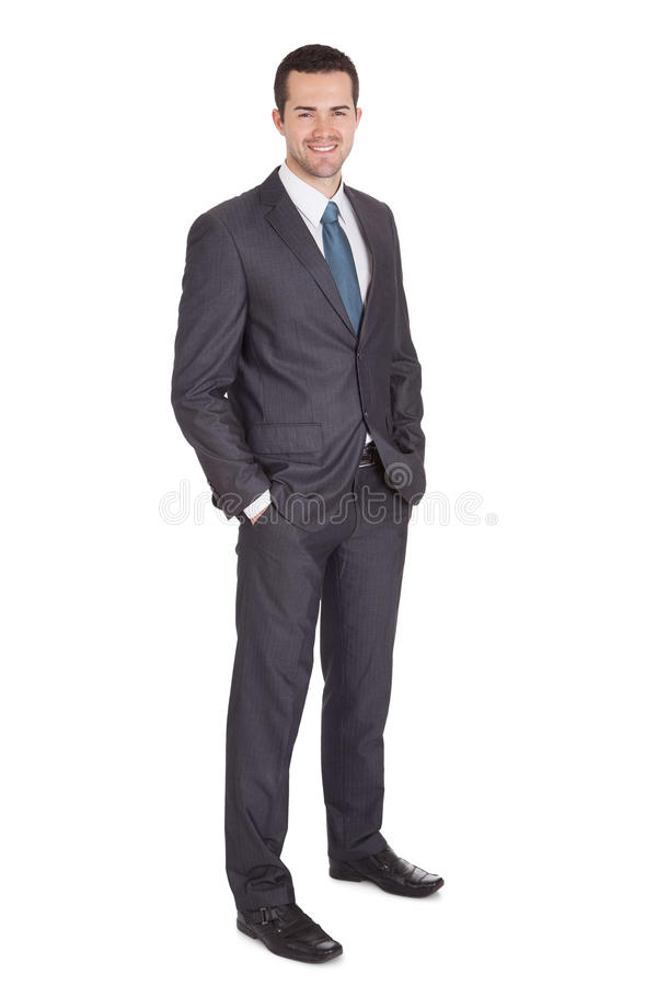 Portrait of successful businessman royalty free stock photo