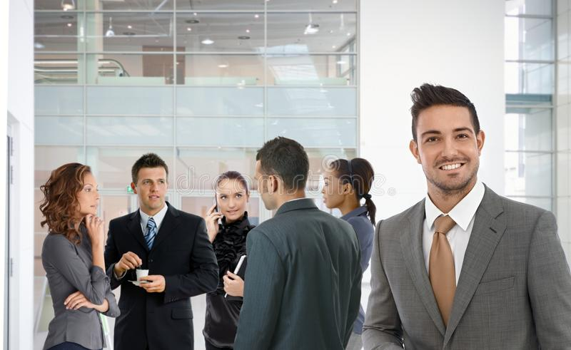 Portrait of successful businessman smiling happy royalty free stock photography