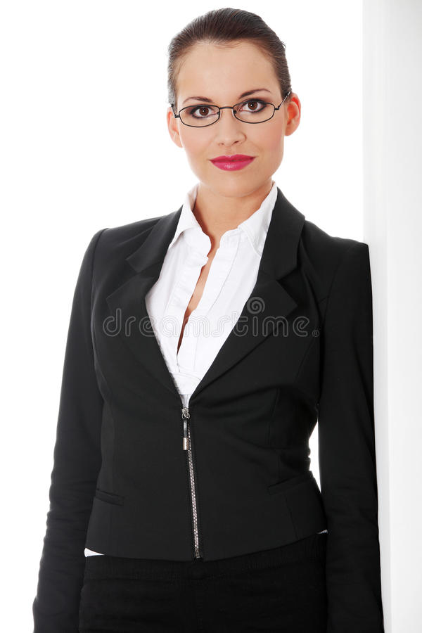 Portrait of successful businesswoman royalty free stock photo