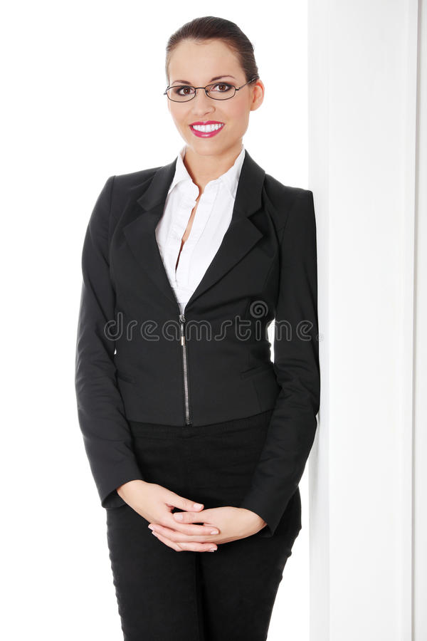 Portrait of successful businesswoman stock image