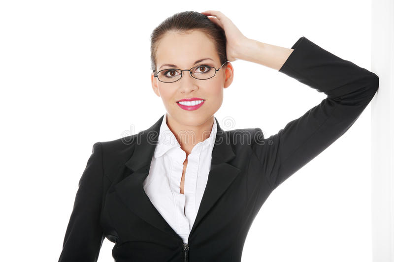 Portrait of successful businesswoman stock photo