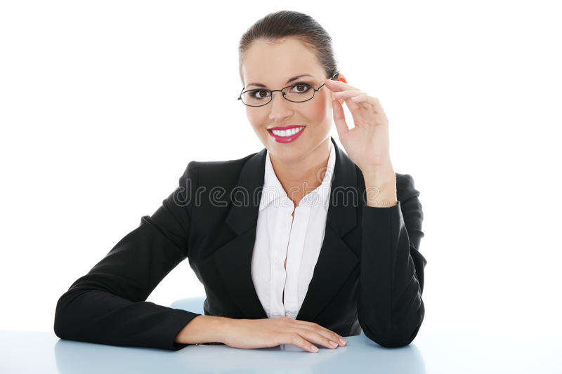 Portrait of successful businesswoman stock photos