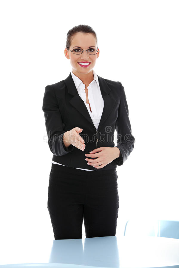Portrait of successful businesswoman stock photography
