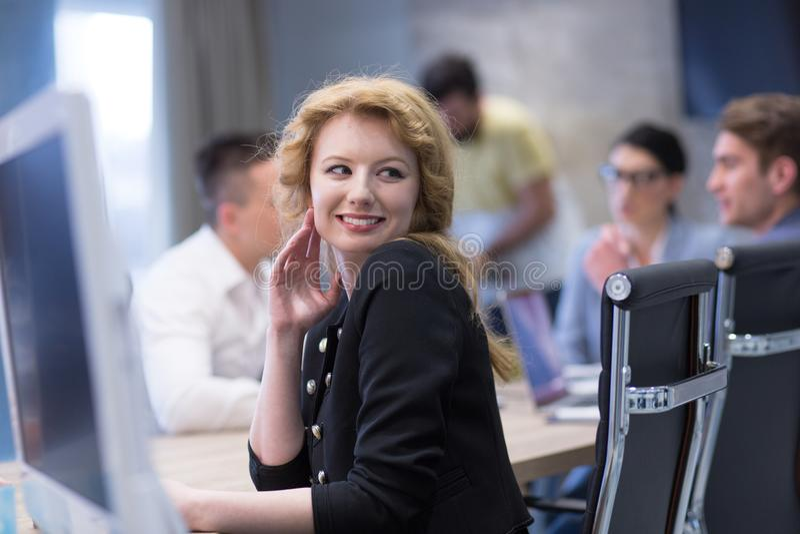 Portrait of successful Businesswoman stock photos