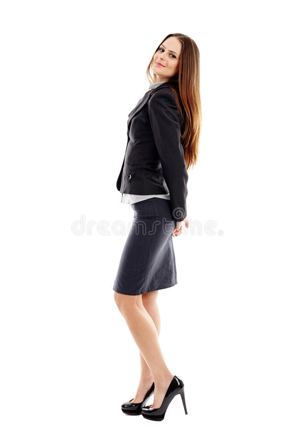 Download Portrait Of Successful Businesswoman On White Background Stock Image - Image: 37276077