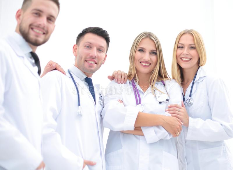 Portrait of successful medical team. Successful medical team .the concept of health stock image