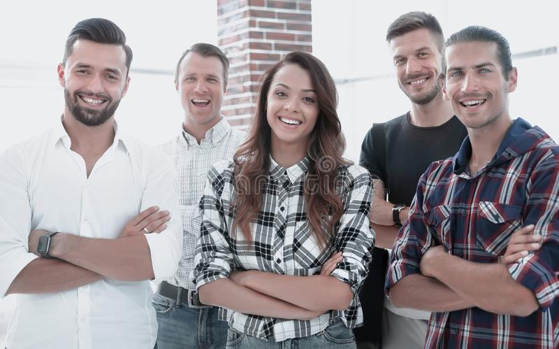 Successful team of young designers royalty free stock photo