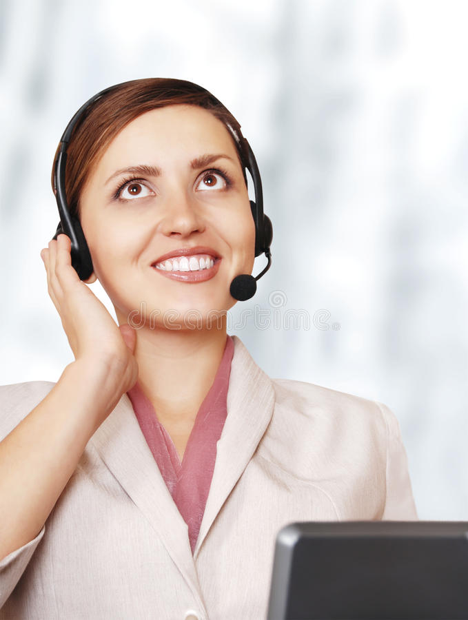 Download Portrait Of Suport Service Operator Stock Photo - Image: 24463372