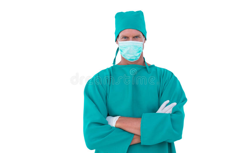 portrait of a surgeon royalty free stock photography