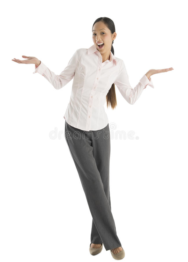 Download Portrait Of Surprised Businesswoman Gesturing Stock Photo - Image: 32278388