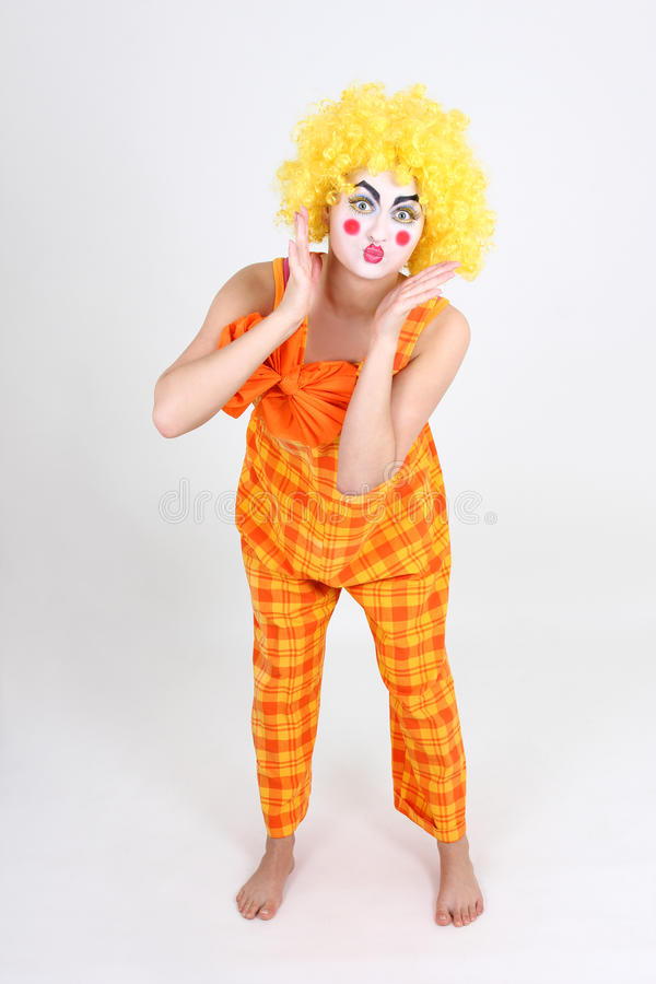 Download Portrait Of Surprised Clown With Bow Stock Photo - Image: 24777112
