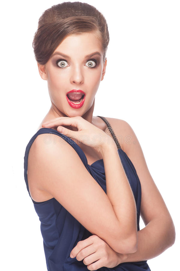 Excited Woman Royalty Free Stock Images