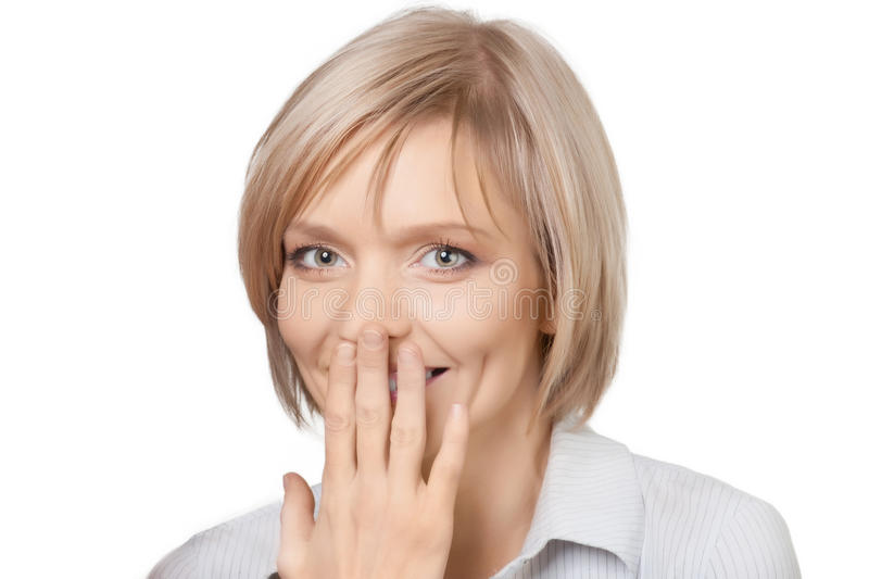 Download Portrait Of Surprised Pretty Young Woman Stock Photo - Image of female, head: 18840230