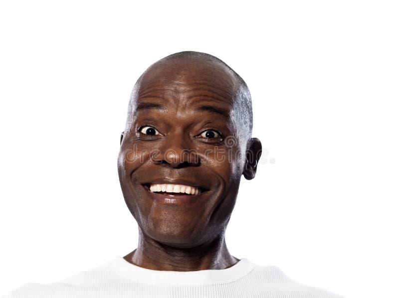 Portrait of surprised smiling man