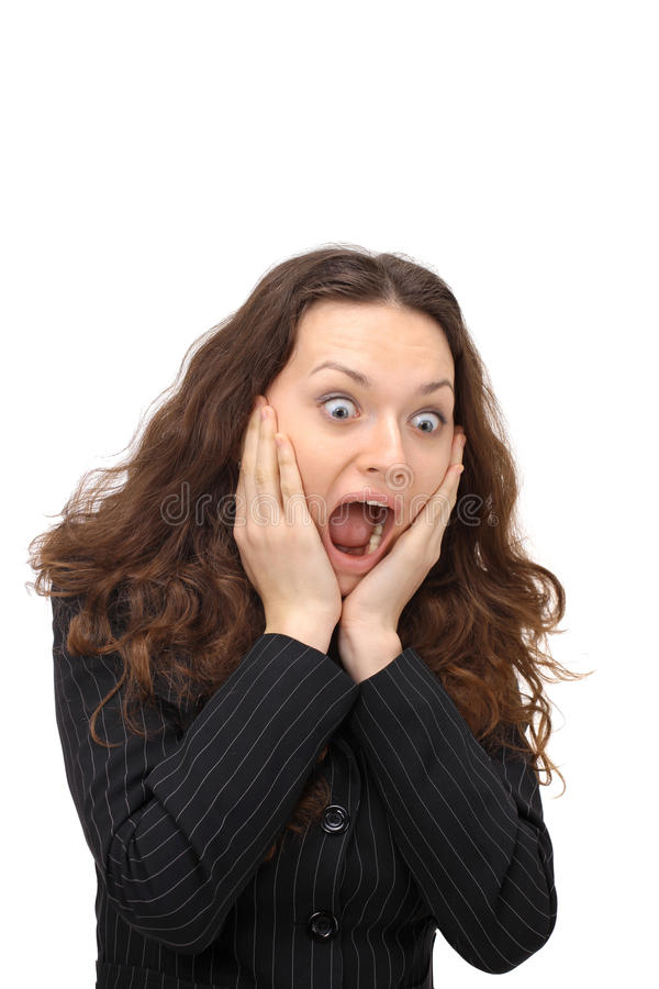 Download Portrait Of Surprised Young Woman Stock Image - Image: 18787961