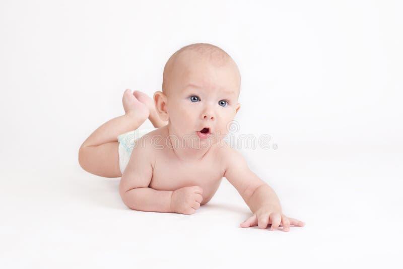 Portrait of sweet little baby boy stock image