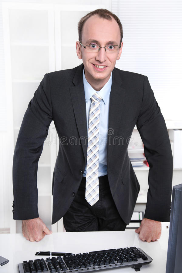 Download Portrait Of A Sympathetic Manager In His Office Royalty Free Stock Photos - Image: 35247518