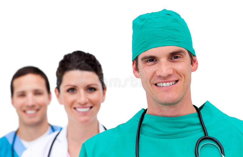 Portrait of a talented medical team royalty free stock photo