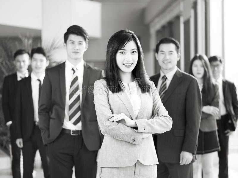 Portrait of team of asian business people stock images