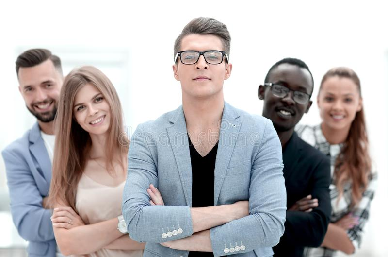 Portrait of a team of multinational and multiethnic corporate business people. royalty free stock photos