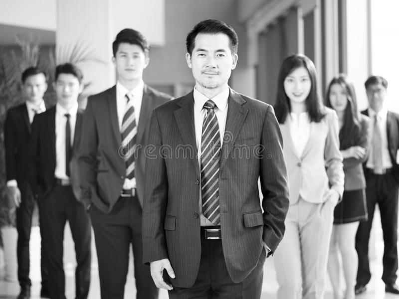 Portrait of team of asian business people royalty free stock images