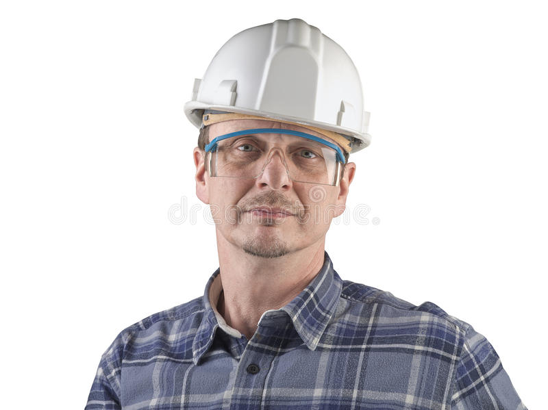 Portrait of a technician isolated royalty free stock image