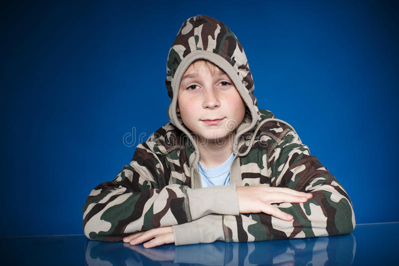 Portrait of a teenage boy royalty free stock photo