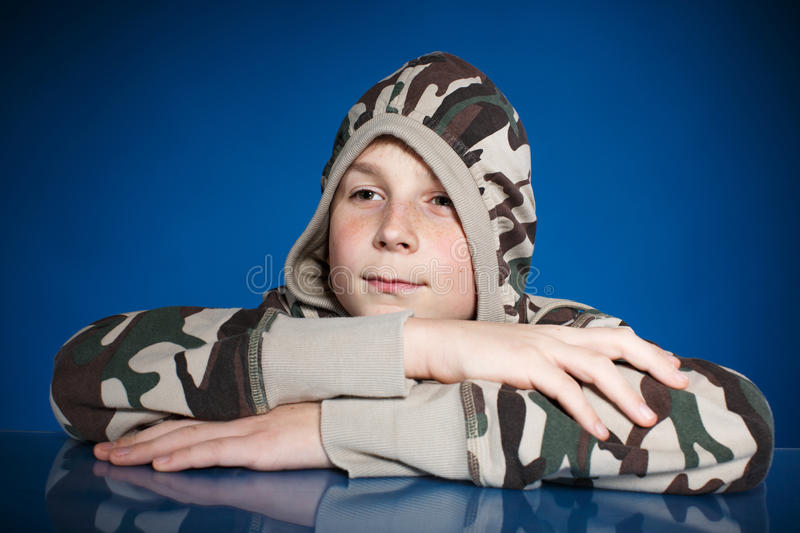 Portrait of a teenage boy stock image