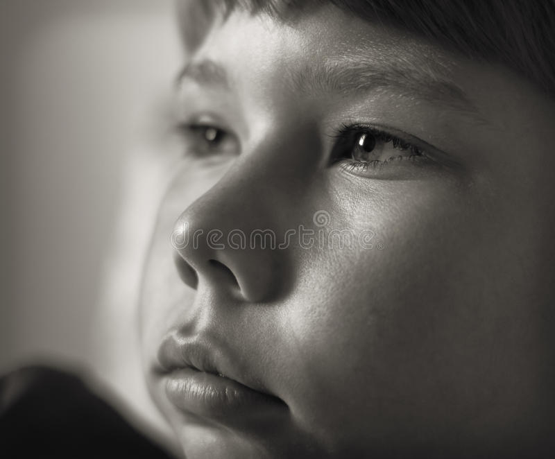 Portrait of a teenage boy closeup. stock image