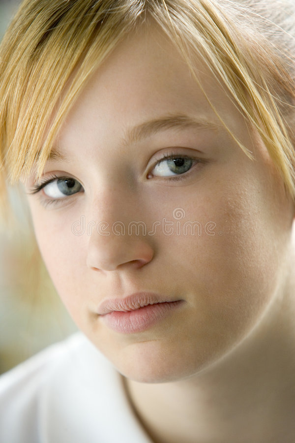 Portrait Of Teenage Girl. Looking to Camera royalty free stock photo