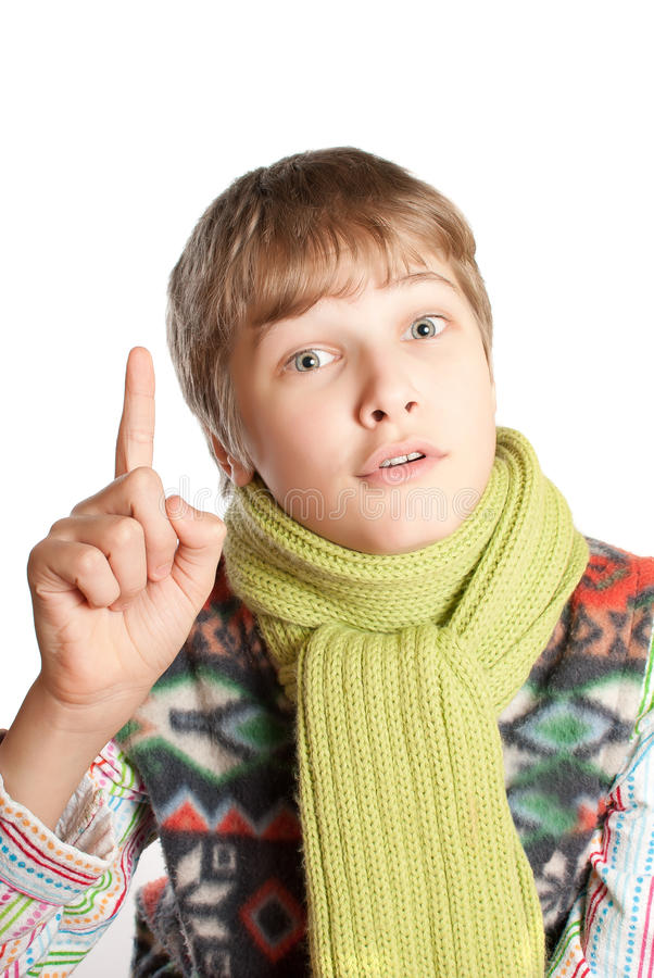 Portrait of a teenager. stock image