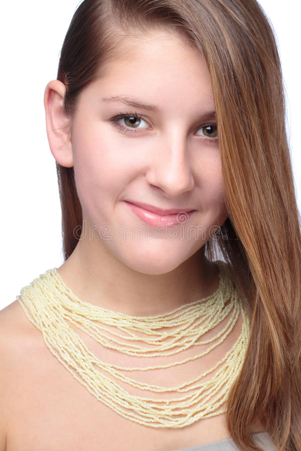 Download Portrait Of Teenager With Beads Stock Image - Image: 96330613