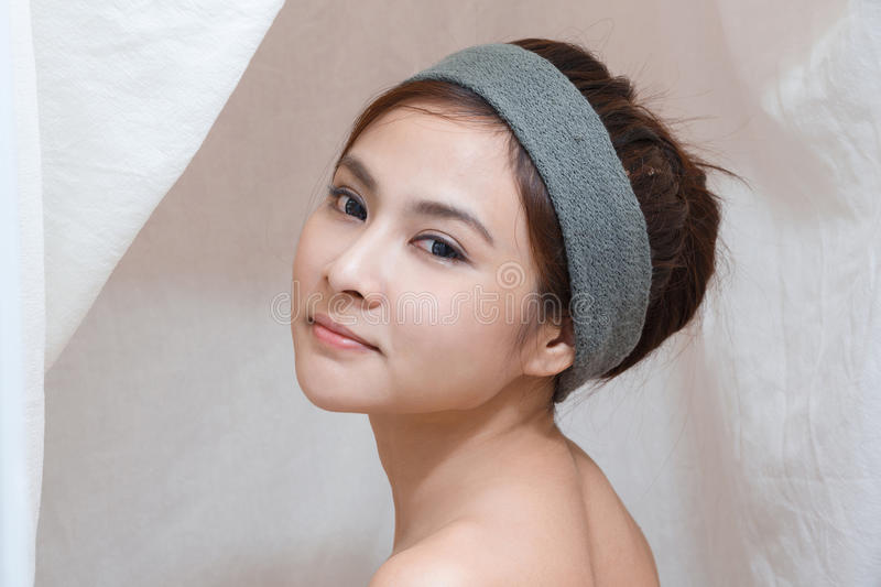 Portrait in Thai spa stock photography