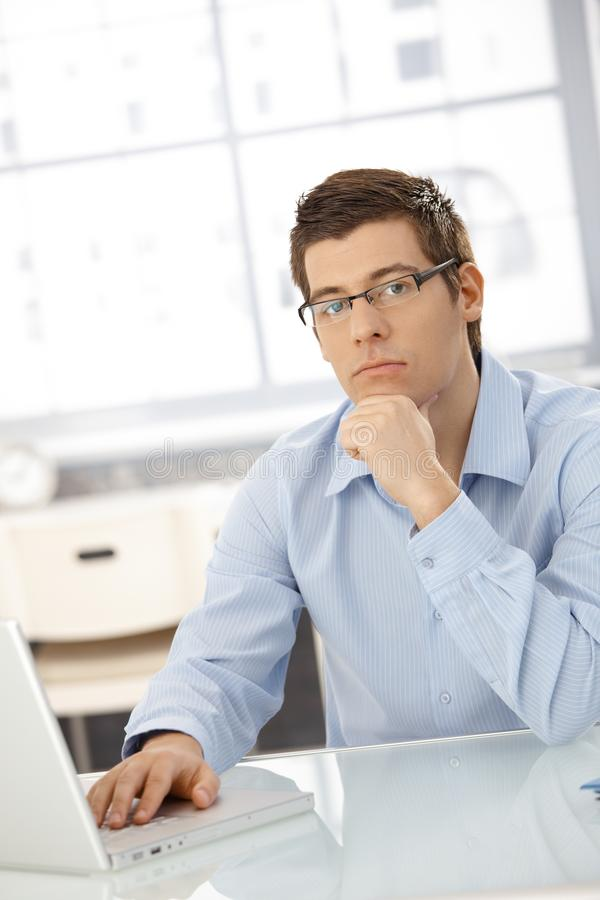 Download Portrait Of Thinking Businessman Stock Image - Image: 23609233