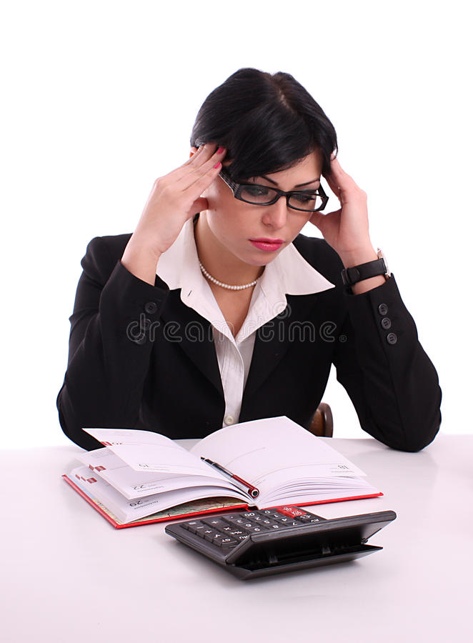 Download Portrait Of A Thinking Successful Business Woman Stock Image - Image: 13064501