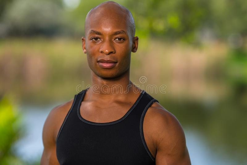 Portrait of a thirty year old fitness model. royalty free stock photos
