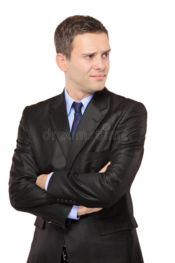 Portrait of a thoughtful businessman stock photos