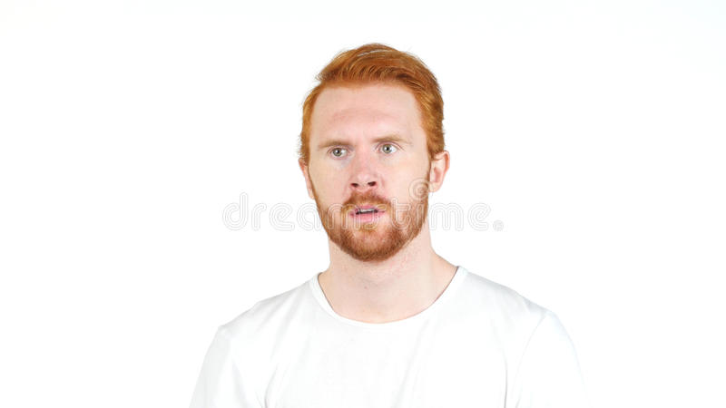 Portrait Of Thoughtful worried Young Man royalty free stock photos