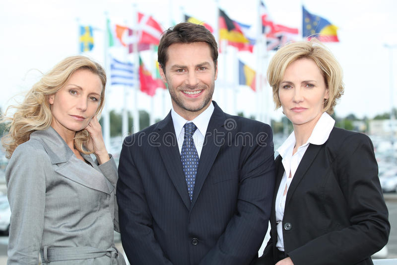 Portrait of three business people royalty free stock photos