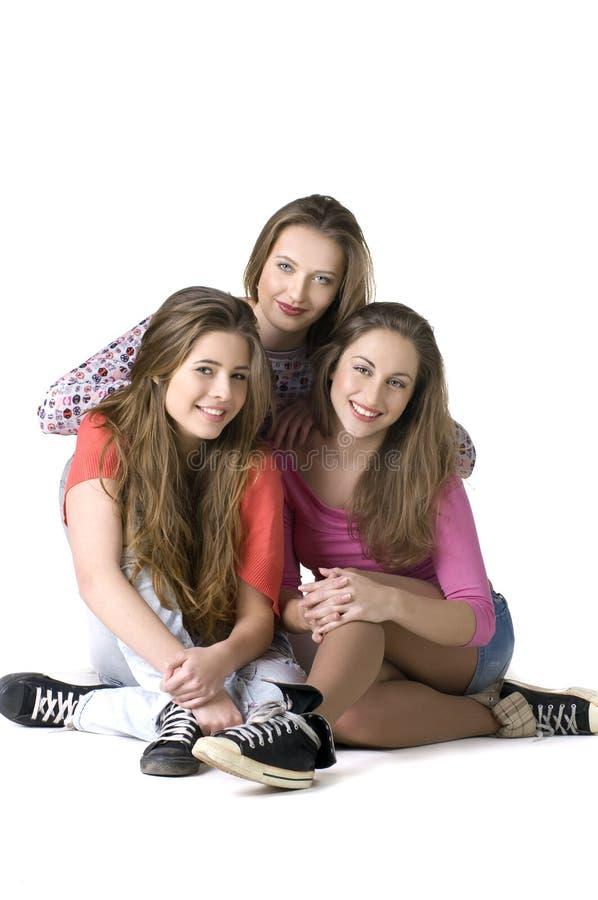 Download Portrait Of Three  Happy Girls Stock Image - Image: 17324011