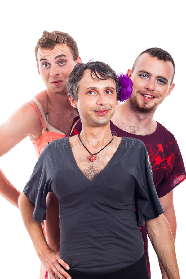 Transvestites portrait royalty free stock image