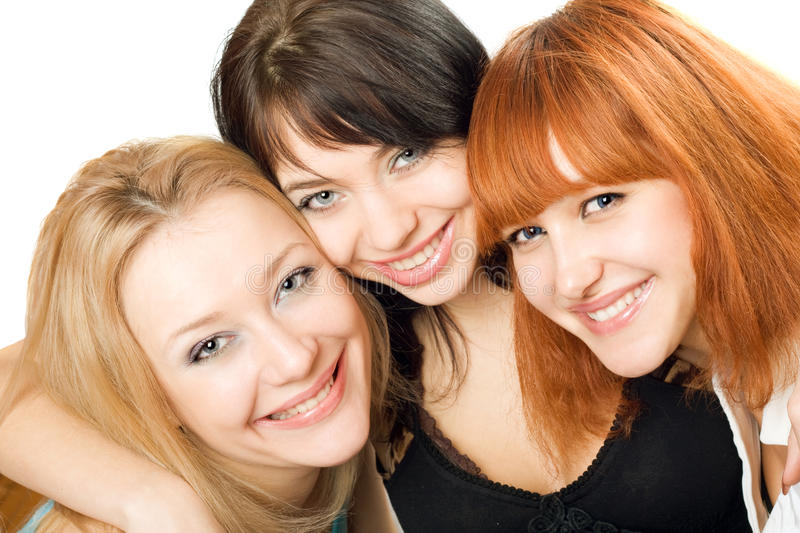 Download Portrait of three women stock photo. Image of beautiful - 14632222