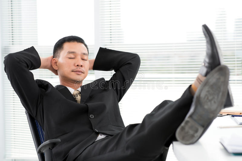 Being relaxed stock image