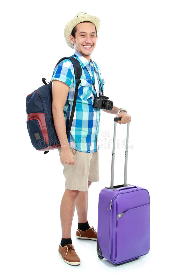 Download Portrait of a tourist stock image. Image of good, charming - 27453789